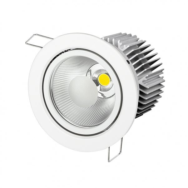 COB Down Light, COB plafonnier, lumière de la COB, COB en bas des lumières, COB LED Down
