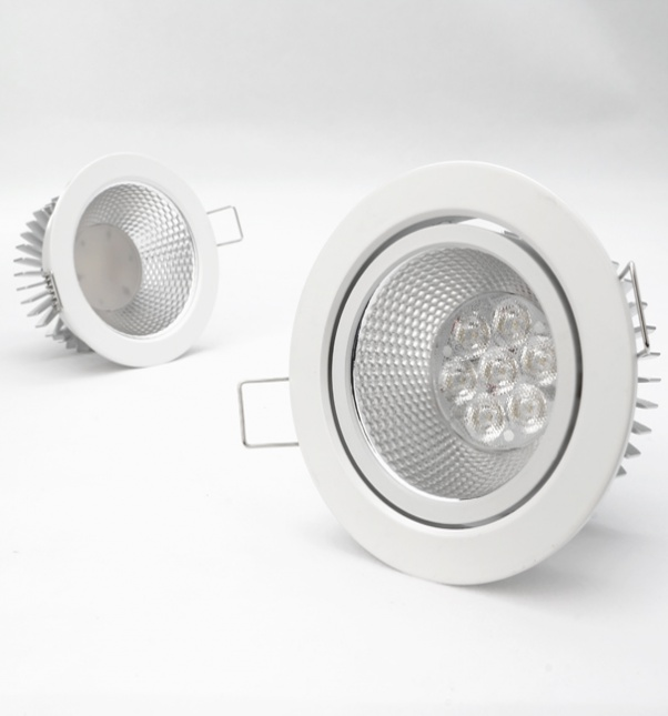 angle de faisceau d'inondation, propre lumière avec alimentation intégrée, panneau lumineux rond, large angle de rayonnement
