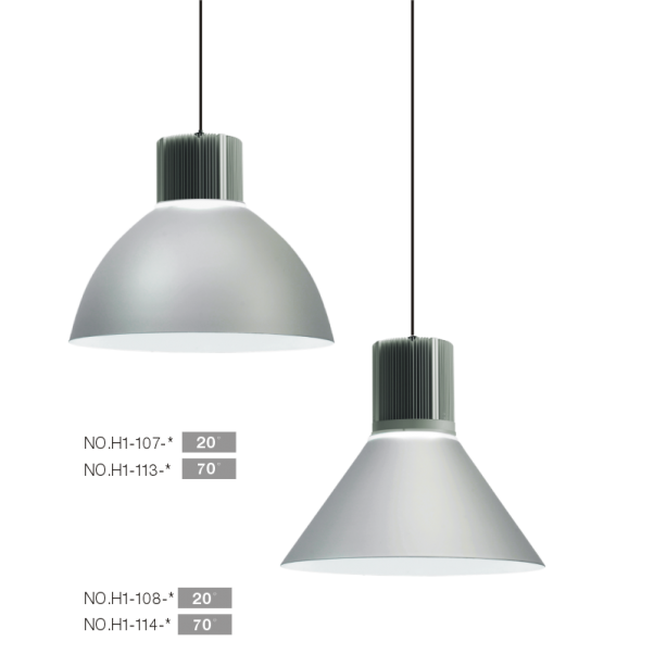 Feux à grande hauteur à LED, la lumière de la baie haut, les lumières de haute vitrées, la lumière du tunnel, haute puissance feux à grande hauteur